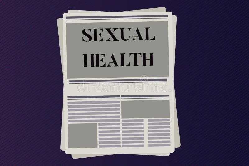 Word het schrijven tekst Seksuele Gezondheid Bedrijfsconcept voor Gezonder lichaam die Seksuele het levens Positieve verhoudingen royalty-vrije illustratie