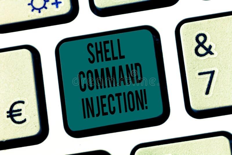 Word het schrijven tekst Shell Comanalysisd Injection Bedrijfsconcept voor gebruikt door hakkers om systeem uit te voeren comanal royalty-vrije stock afbeeldingen