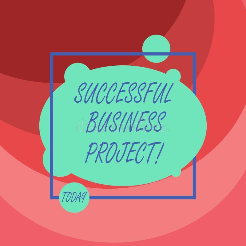 Word het schrijven tekst Succesvol Zakelijk project Bedrijfsconcept voor het Bereiken van projectdoelen binnen programma vector illustratie