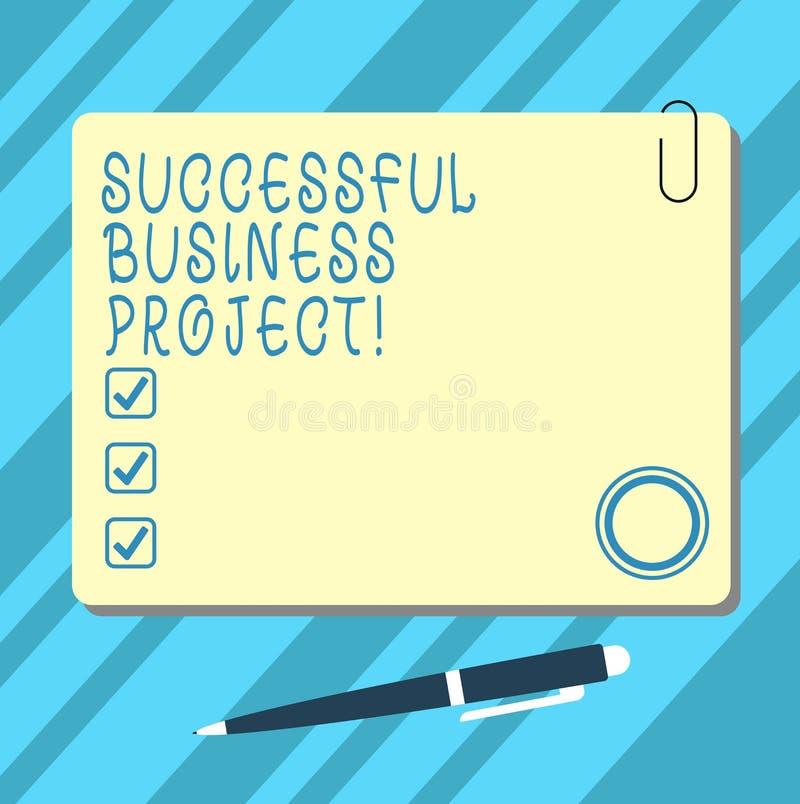 Word het schrijven tekst Succesvol Zakelijk project Bedrijfsconcept voor het Bereiken van projectdoelen binnen programmaspatie vector illustratie