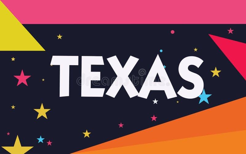Word het schrijven tekst Texas Bedrijfsconcept voor gebaseerd op Caddo-woordtaysha vrienden betekenen en zijn die gevestigd in on vector illustratie