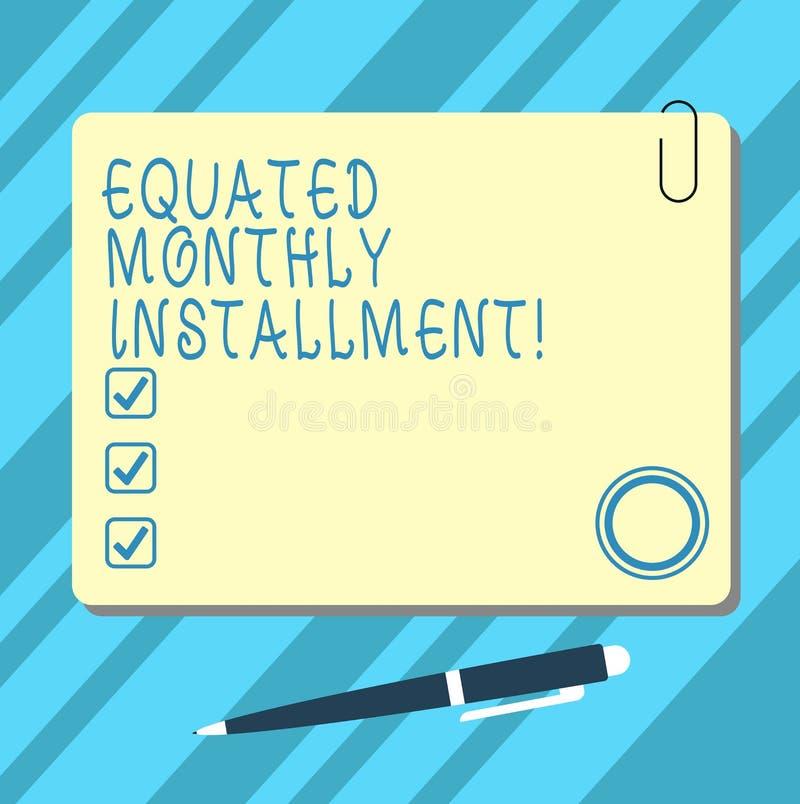 Word het schrijven tekst Vergeleken Maandelijks Voorschot Bedrijfsconcept voor Constantamount-Spatie van terugbetalings de maande vector illustratie