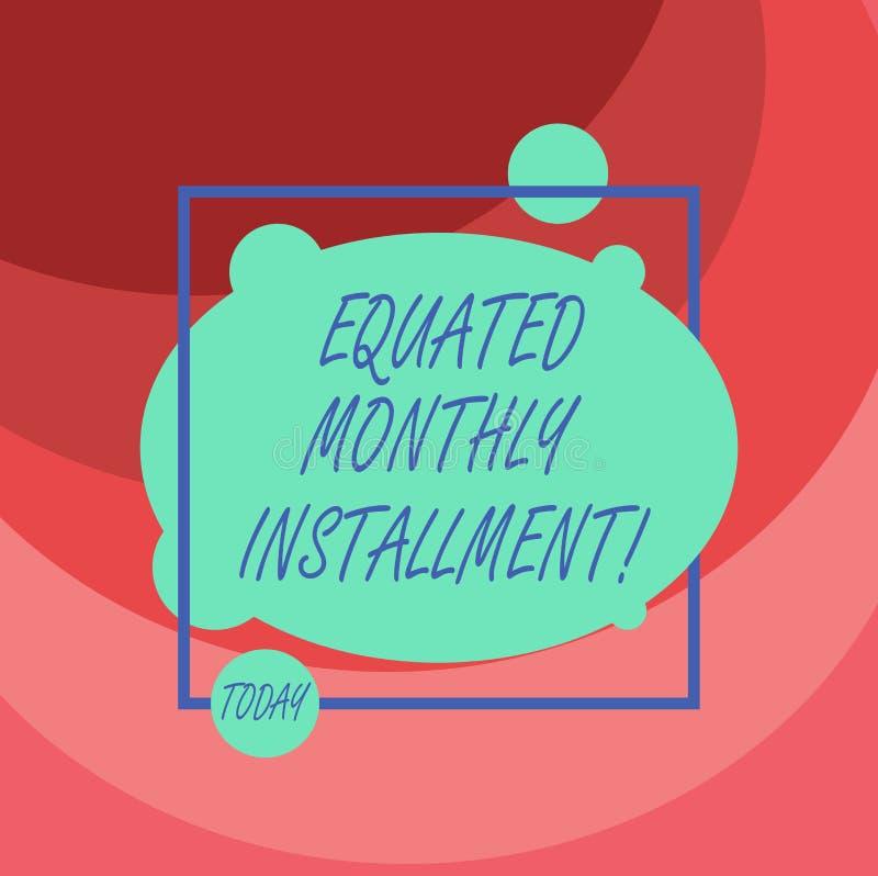 Word het schrijven tekst Vergeleken Maandelijks Voorschot Bedrijfsconcept voor Constantamount-terugbetalings maandelijkse voorsch stock illustratie