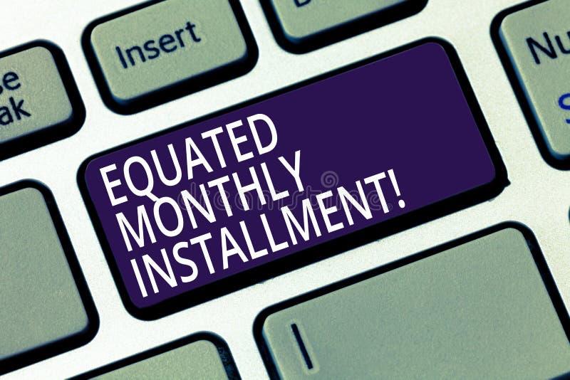 Word het schrijven tekst Vergeleken Maandelijks Voorschot Bedrijfsconcept voor Constantamount-terugbetalings maandelijkse voorsch royalty-vrije illustratie