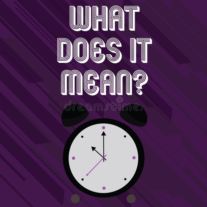 Word het schrijven tekst wat het Meanquestion doet Het bedrijfsconcept voor Verwarringnieuwsgierigheid het Vragen onderzoekt vector illustratie