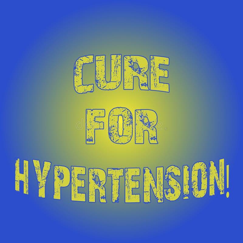 Word het schrijven tekstbehandeling voor Hypertensie Bedrijfsconcept voor het Ertoe brengen van behandeling om het bloeddruklicht royalty-vrije illustratie