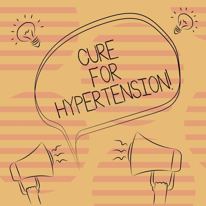 Word het schrijven tekstbehandeling voor Hypertensie Bedrijfsconcept voor het Ertoe brengen van behandeling om de bloeddruk Uit d vector illustratie