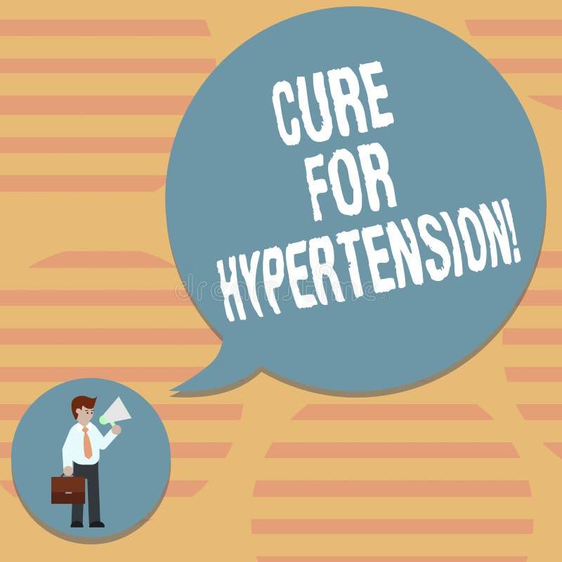 Word het schrijven tekstbehandeling voor Hypertensie Bedrijfsconcept voor het Ertoe brengen van behandeling om de bloeddrukman bi royalty-vrije illustratie