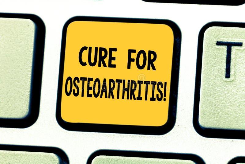 Word het schrijven tekstbehandeling voor Osteoartritis Bedrijfsconcept voor Behandeling voor de pijn en de stijfheid van verbindi royalty-vrije stock foto's