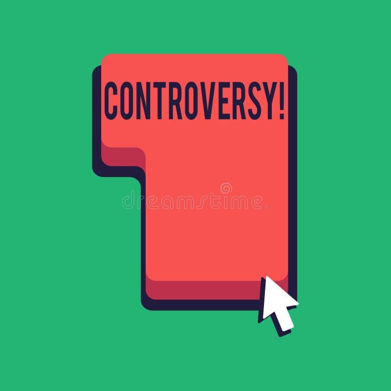 Word het schrijven tekstcontroverse Bedrijfsconcept voor Meningsverschil of Argument over iets belangrijk voor het tonen royalty-vrije illustratie