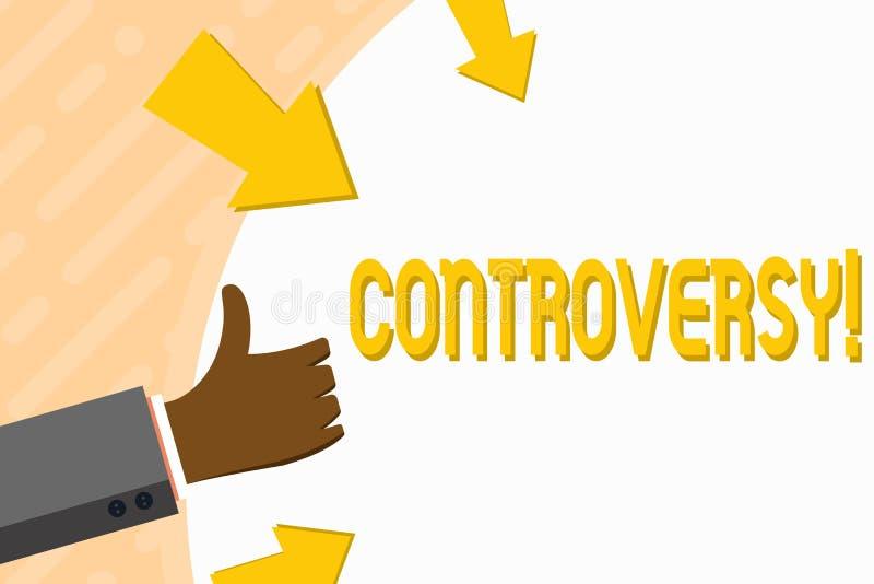 Word het schrijven tekstcontroverse Bedrijfsconcept voor Meningsverschil of Argument over iets belangrijk voor het tonen van Hand stock illustratie
