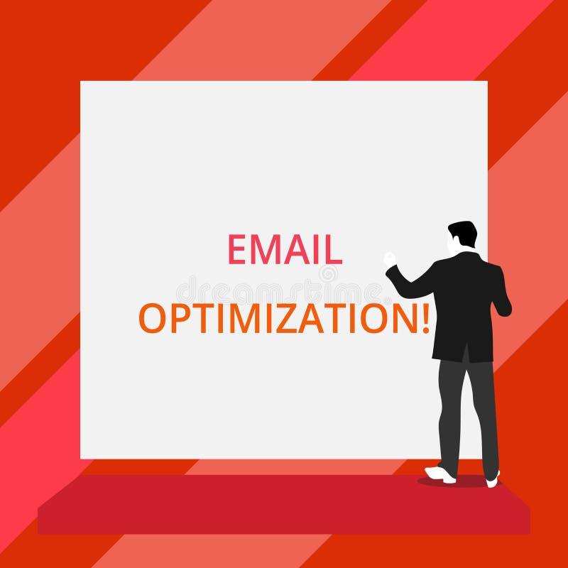 Word het schrijven tekste-mail Optimalisering Bedrijfsconcept voor Maximize de doeltreffendheid van de Rug van de marketingcampag vector illustratie