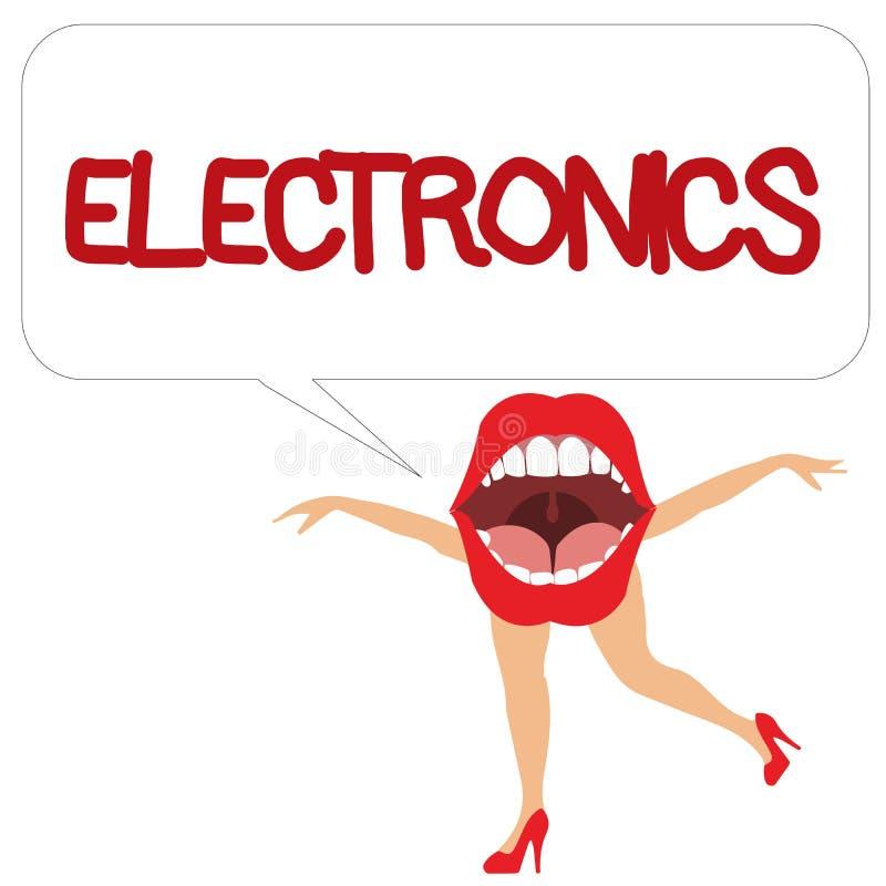 Word het schrijven tekstelektronika Bedrijfsconcept voor Kringen of apparaten die het digitale apparaat van transistorsmicrochips vector illustratie