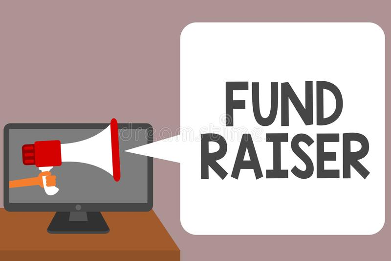 Word het schrijven tekstfonds - fokker Het bedrijfsconcept voor persoon van wie baan of de taak is zoekt financiële steun voor de royalty-vrije illustratie