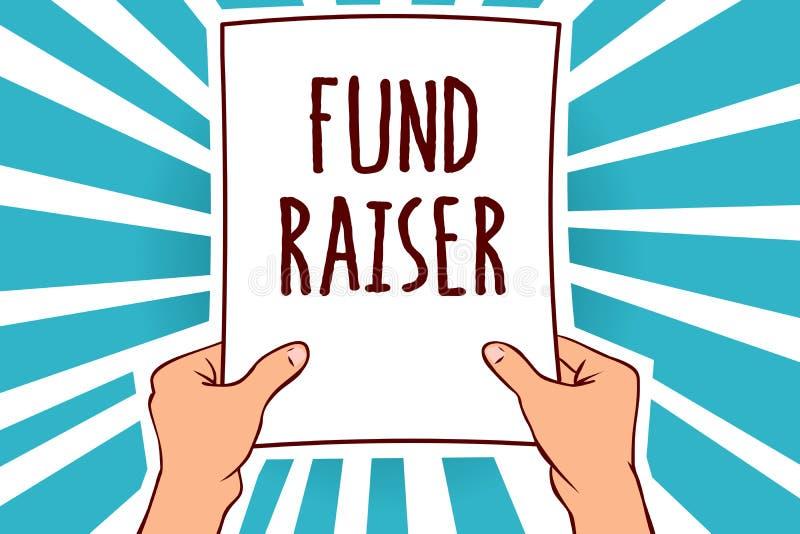 Word het schrijven tekstfonds - fokker Het bedrijfsconcept voor persoon van wie baan of de taak is zoekt financiële steun voor de vector illustratie