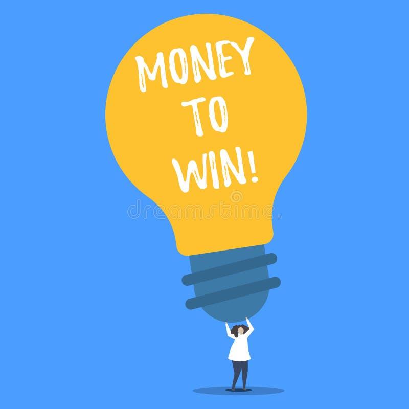 Word het schrijven tekstgeld aan Winst Het bedrijfsconcept voor het Berekenen van opbrengsten gaat worden verkregen doend iets stock illustratie