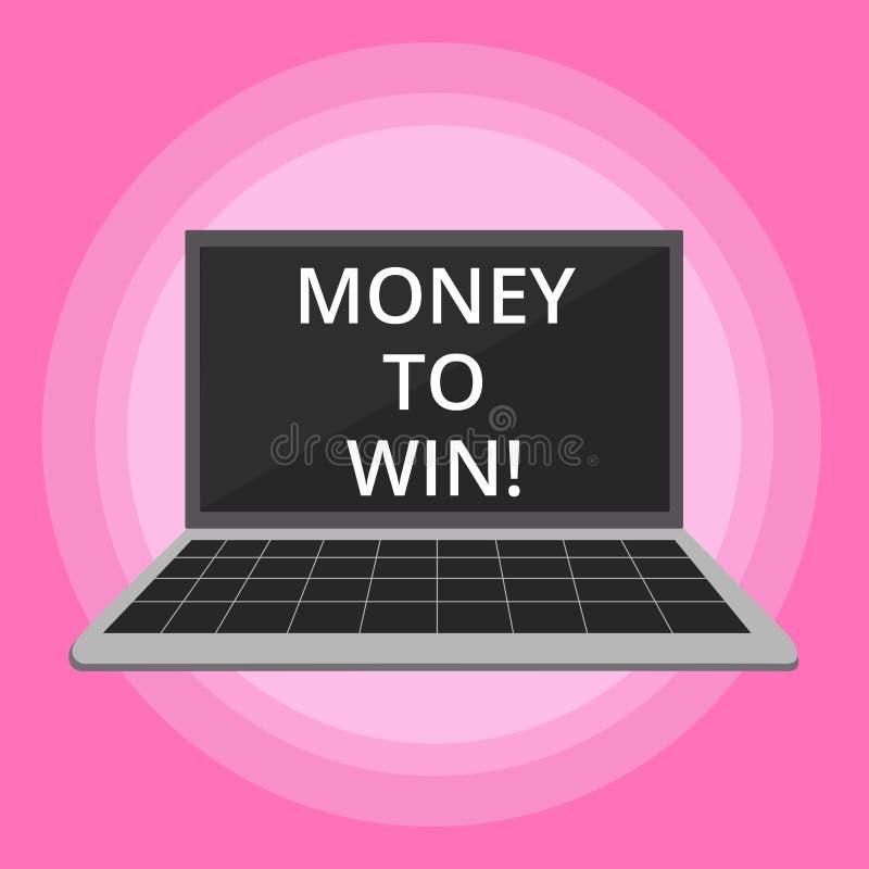 Word het schrijven tekstgeld aan Winst Het bedrijfsconcept voor het Berekenen van opbrengsten gaat worden verkregen doend iets royalty-vrije illustratie