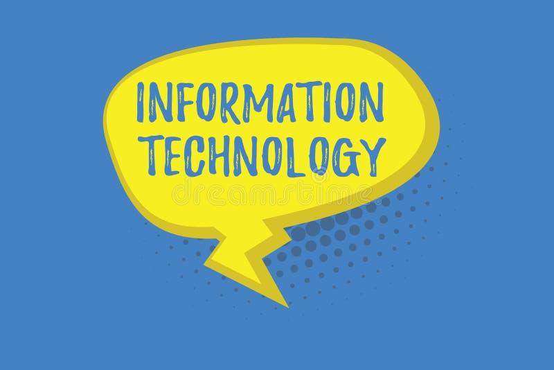 Word het schrijven tekstInformatietechnologie Het bedrijfsconcept voor Op te slaan gebruikssystemen wint Transmit terug verzendt  vector illustratie