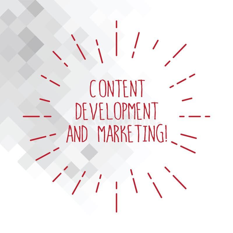 Word het schrijven tekstinhoud Ontwikkeling en Marketing Bedrijfsconcept voor Sociale media die optimalisering dun adverteren royalty-vrije illustratie
