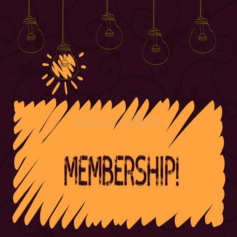 Word het schrijven tekstlidmaatschap Het bedrijfsconcept voor het Zijn een liddeel van een groep of team wordt lid organisatie va royalty-vrije illustratie
