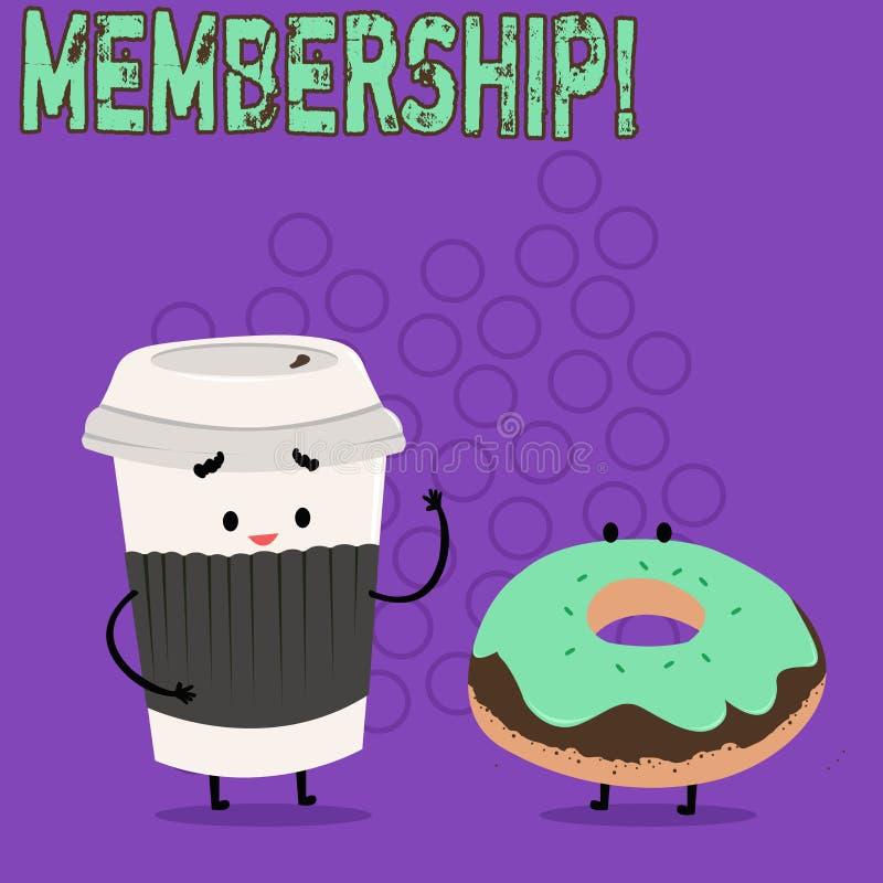 Word het schrijven tekstlidmaatschap Het bedrijfsconcept voor het Zijn een liddeel van een groep of team wordt lid organisatie va vector illustratie