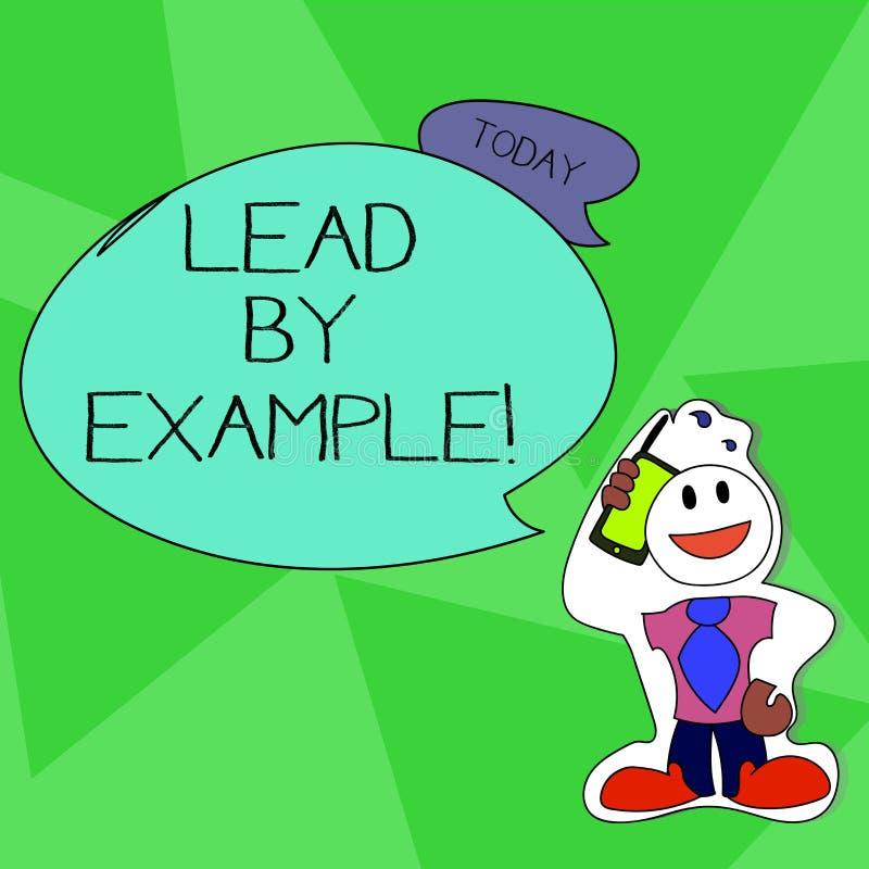 Word het schrijven tekstlood door Voorbeeld Het bedrijfsconcept voor u wordt aantonend anderen voor uw acties willen volgen vector illustratie