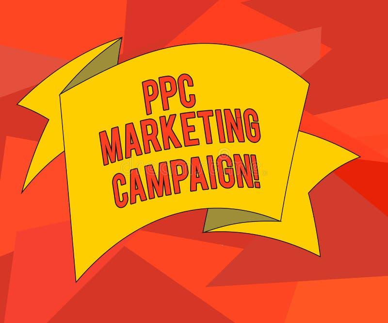 Word het schrijven tekstppc Marketingcampagne Het bedrijfsconcept voor loon een prijs telkens als één van hun advertenties wordt  vector illustratie