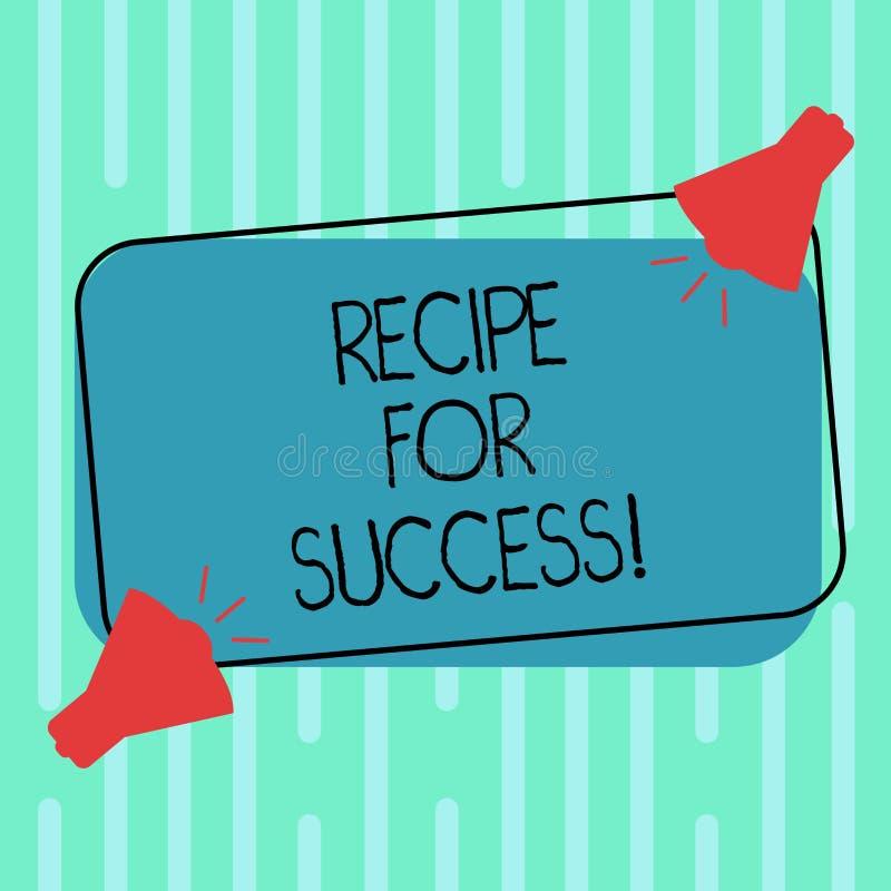 Word het schrijven tekstrecept voor Succes Bedrijfsconcept voor trucs en gidsen om bepaalde doelstellingen Twee te bereiken Megaf vector illustratie