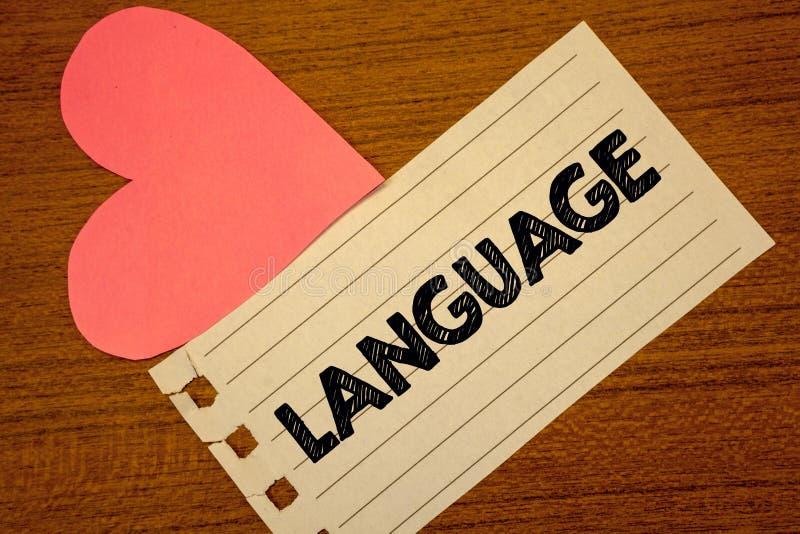 Word het schrijven teksttaal Bedrijfsconcept voor Methode van de menselijke mededeling Gesproken Geschreven pagina van de Uitdruk royalty-vrije stock afbeelding