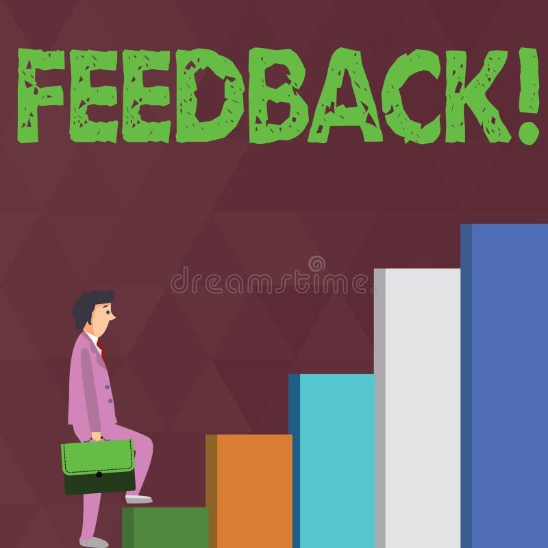 Word het schrijven tekstterugkoppeling Het bedrijfsconcept voor de Evaluatie van de het Adviesreactie van het Klantenoverzicht ge royalty-vrije illustratie