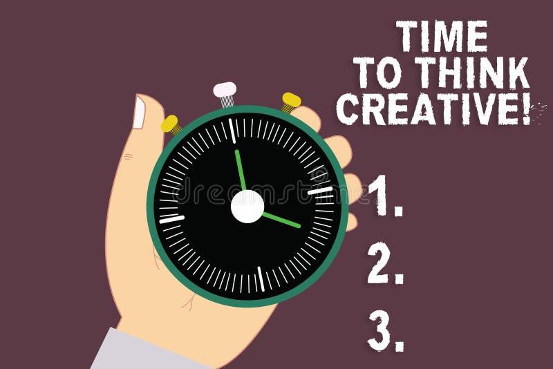 Word het schrijven teksttijd Creatief te denken Bedrijfsconcept voor Creativiteit originele ideeën die Inspiratie HU denken stock illustratie