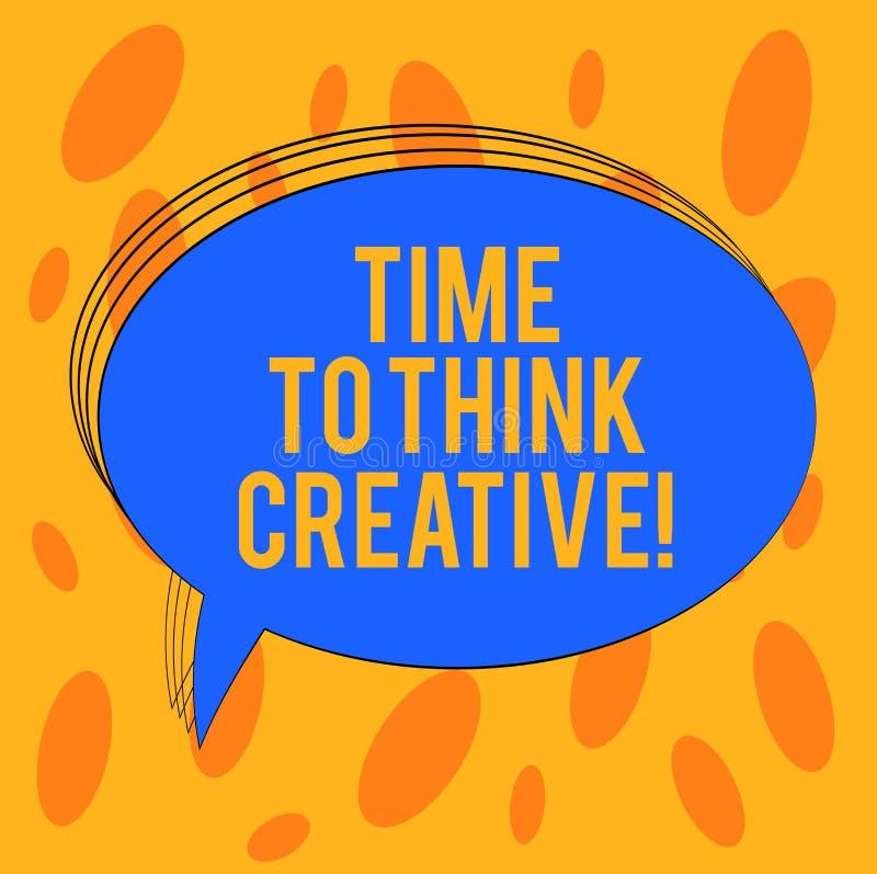 Word het schrijven teksttijd Creatief te denken Bedrijfsconcept voor Creativiteit originele ideeën die Inspiratie Leeg Ovaal denk royalty-vrije illustratie
