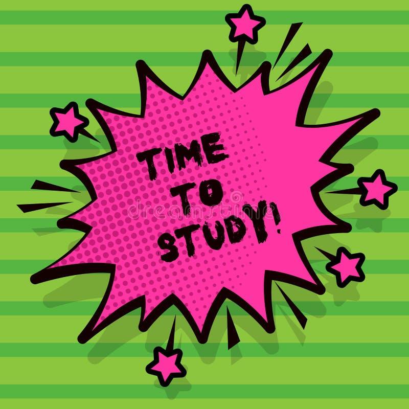 Word het schrijven teksttijd te bestuderen Het bedrijfsconcept voor Examens vergt vooruit concentraat in studies leert de les royalty-vrije illustratie