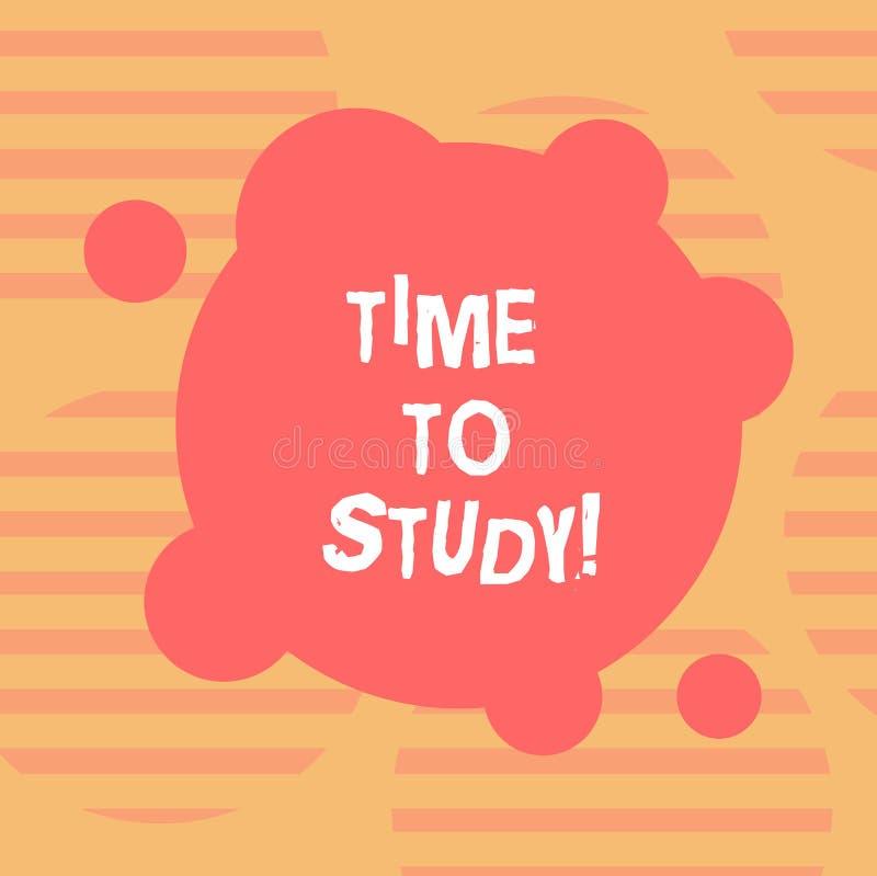 Word het schrijven teksttijd te bestuderen Het bedrijfsconcept voor Examens vergt vooruit concentraat in studies leert de Misvorm stock illustratie
