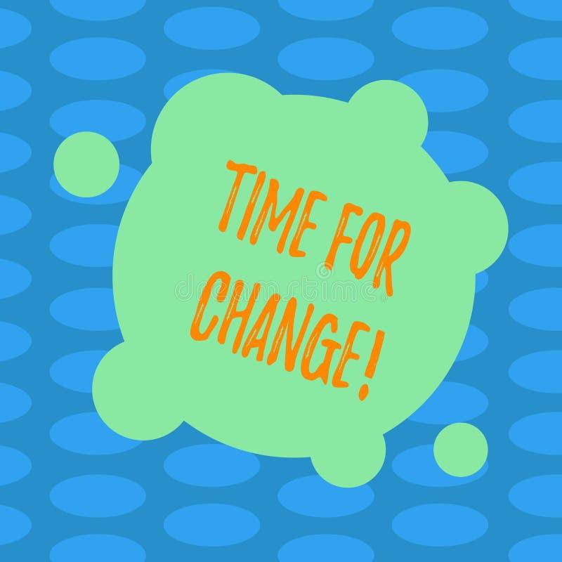 Word het schrijven teksttijd voor Verandering Bedrijfsconcept voor Veranderende Nieuwe het Beginkans van de Ogenblikevolutie om M vector illustratie