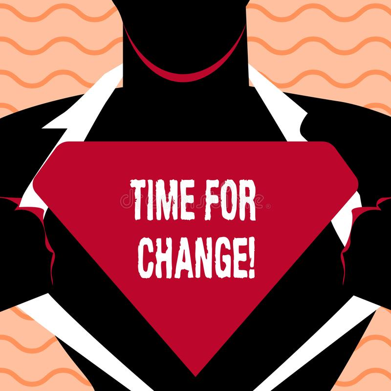 Word het schrijven teksttijd voor Verandering Bedrijfsconcept voor Veranderende Nieuwe het Beginkans van de Ogenblikevolutie te g royalty-vrije illustratie