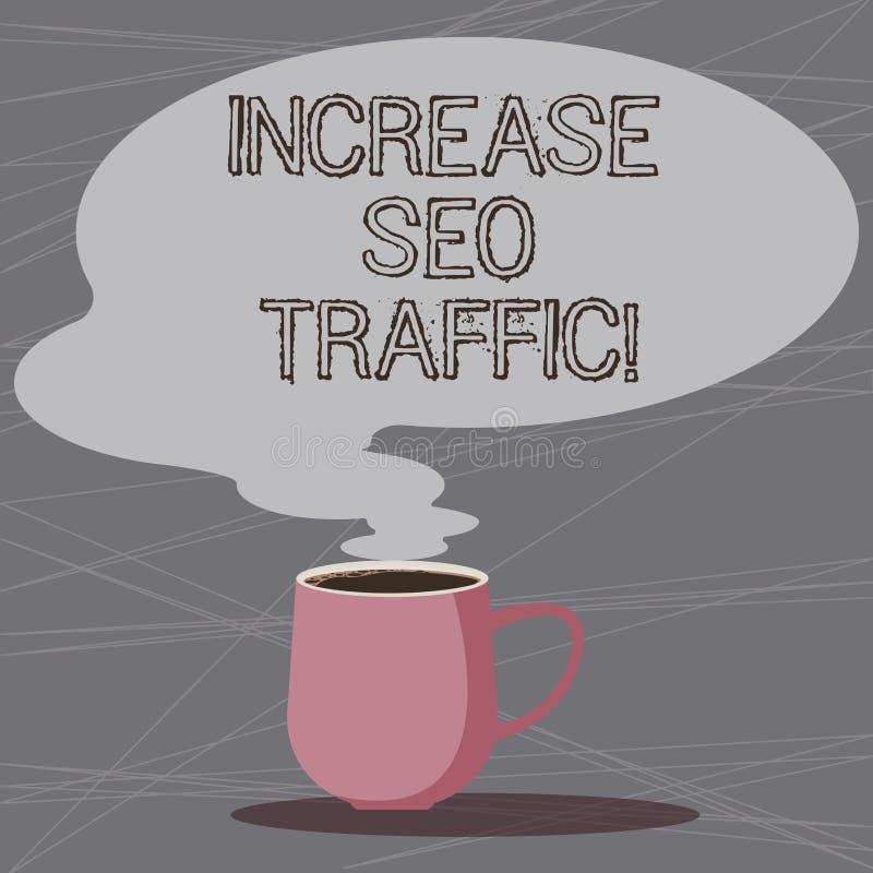 Word het schrijven tekstverhoging Seo Traffic Het bedrijfsconcept voor van de Improve de snelheid webpaginalading en optimaliseer vector illustratie