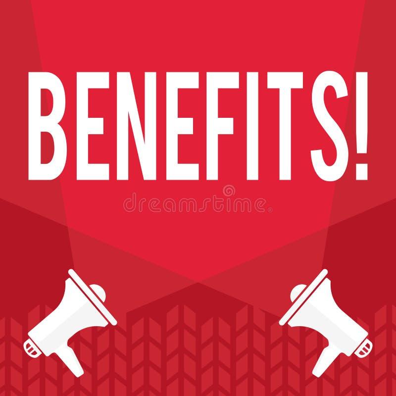 Word het schrijven tekstvoordelen Bedrijfsconcept voor Stijging in toelage en salaris voor hogere werknemers van het bedrijf royalty-vrije illustratie