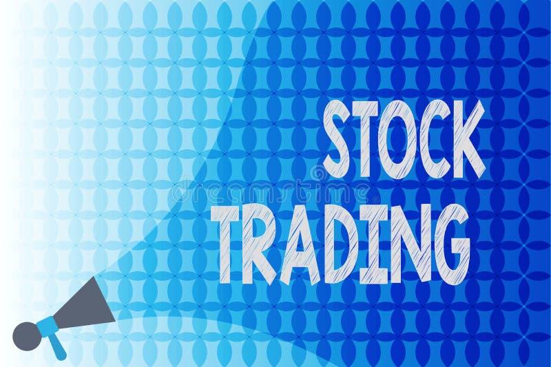Word het schrijven tekstvoorraad Handel Het bedrijfsconcept voor Buy en verkoopt elektronisch van Effecten op de Uitwisselingsvlo royalty-vrije illustratie