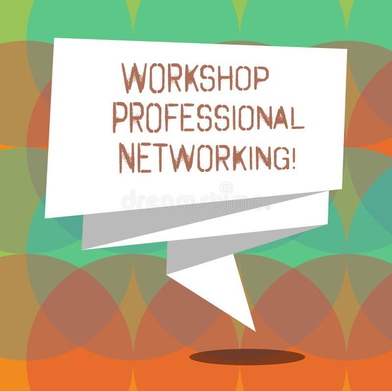 Word het schrijven tekstworkshop Professioneel Voorzien van een netwerk Het bedrijfsconcept voor Activiteiten om de verbindingen  vector illustratie