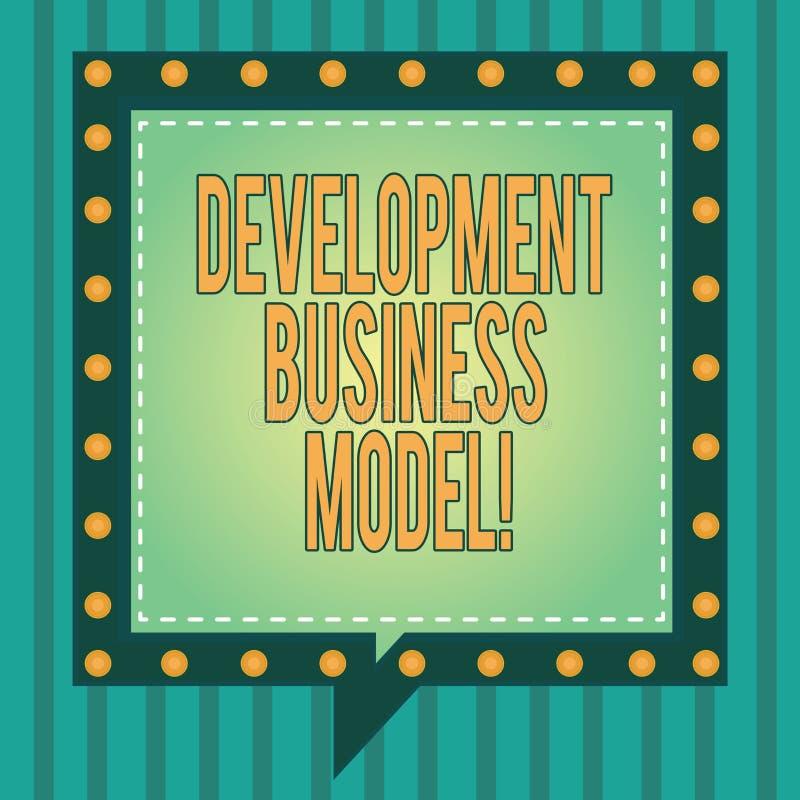 Word het schrijven van de bedrijfs tekstontwikkeling Model Bedrijfsconcept voor reden van hoe een organisatie Vierkant creeerde stock illustratie