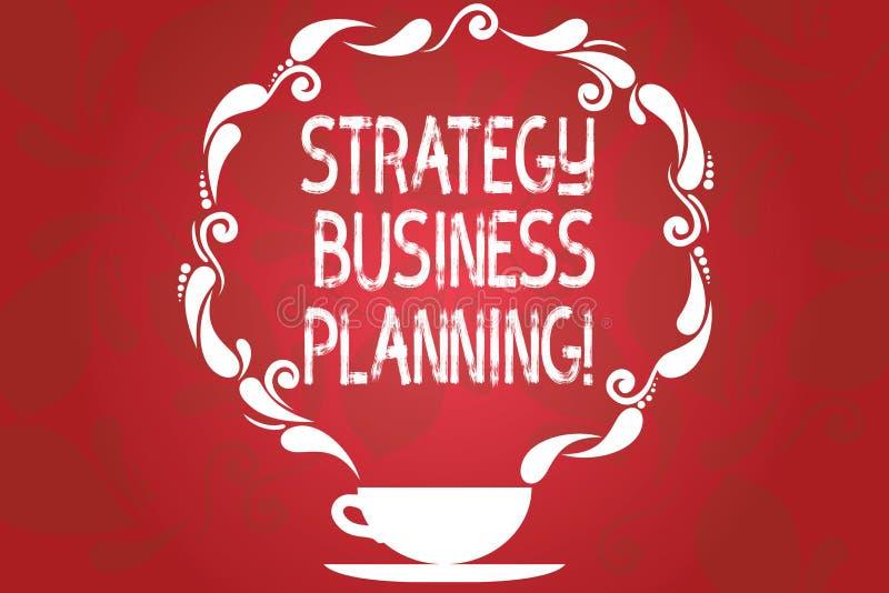 Word het schrijven van de bedrijfs tekststrategie Planning Het bedrijfsconcept voor Overzichten een organisatie s is algemene ric royalty-vrije illustratie