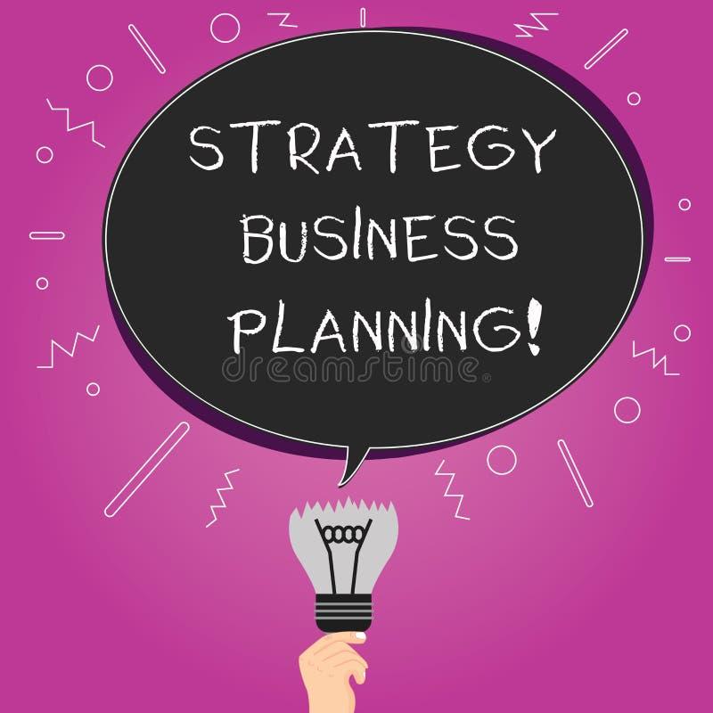 Word het schrijven van de bedrijfs tekststrategie Planning Het bedrijfsconcept voor Overzichten een organisatie s is algemene ric vector illustratie