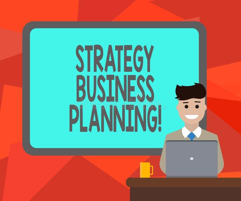 Word het schrijven van de bedrijfs tekststrategie Planning Het bedrijfsconcept voor Overzichten een organisatie s is algemene ric stock illustratie