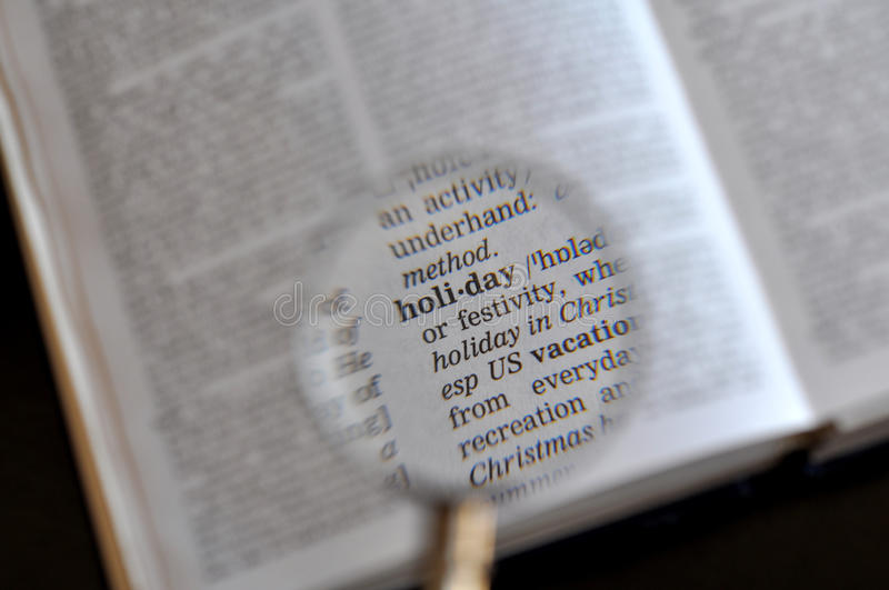 The word holiday royalty free stock photos