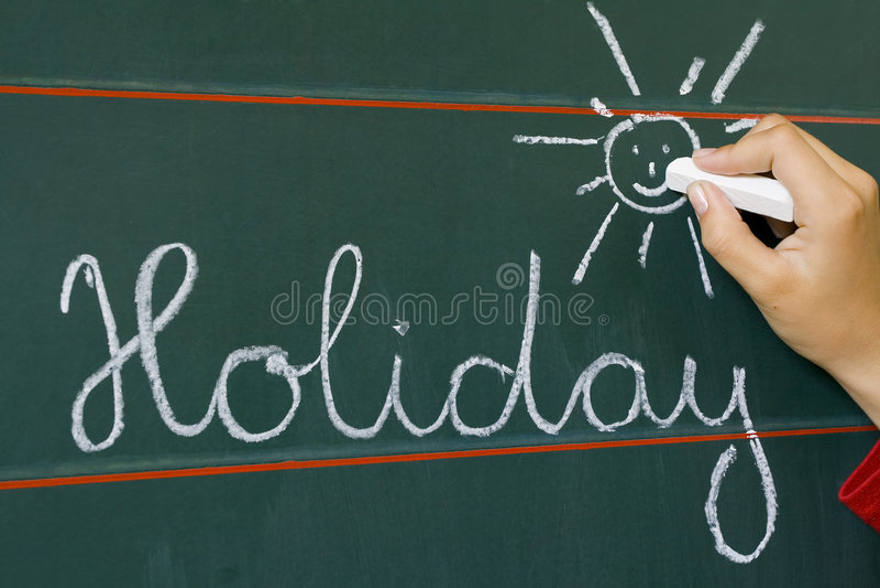 Word holiday and shine stock image