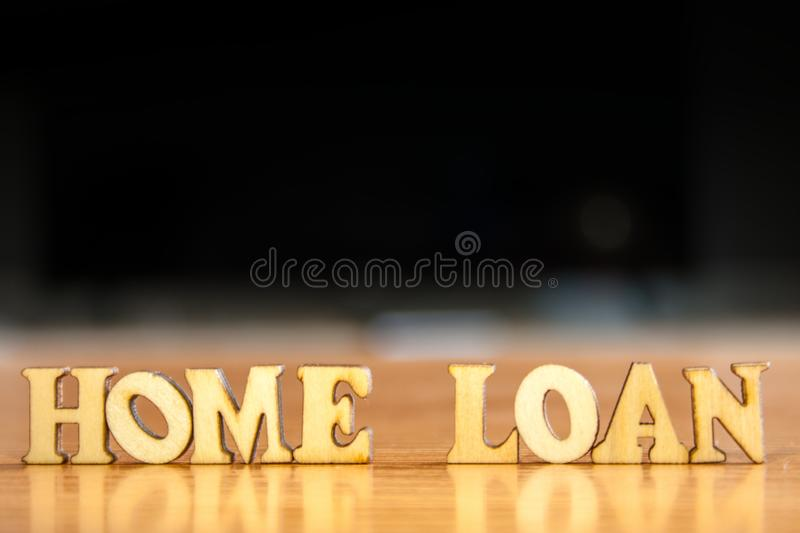 Word home loan royalty free stock image