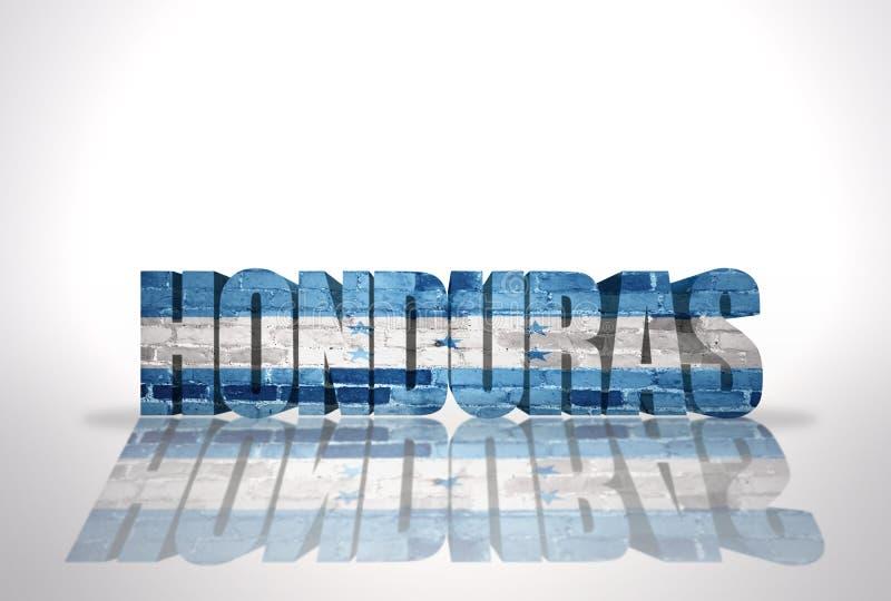 Word Honduras sur le fond blanc illustration de vecteur
