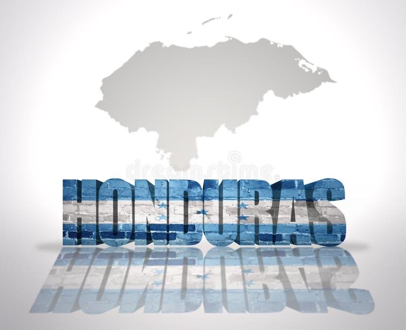 Word Honduras sur un fond de carte illustration libre de droits
