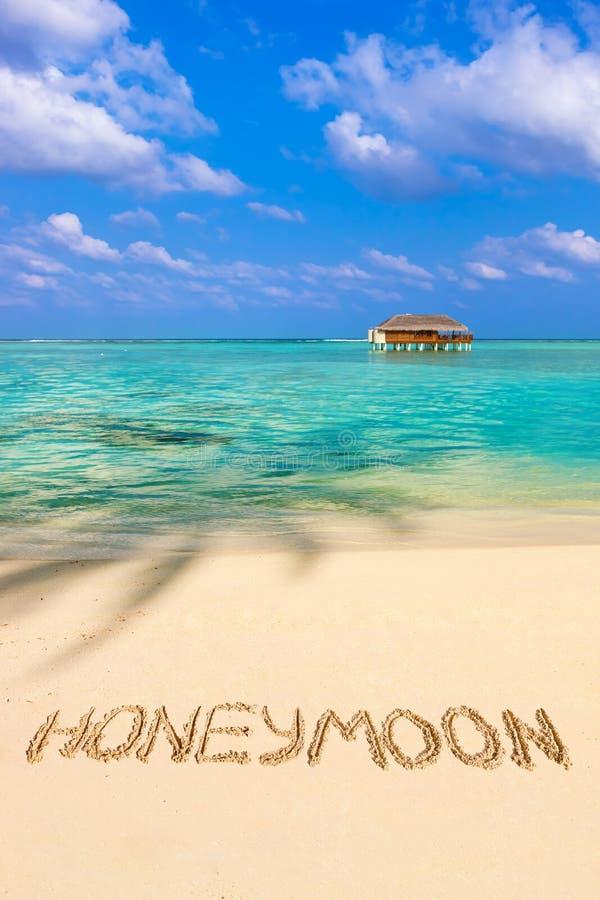 Download Word Honeymoon On Beach Stock Image Of Holiday